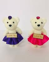 Іграшка Оксамитовий Мишко До Дня Святого Валентина 12 Шт В Упаковці Розмір 11 См