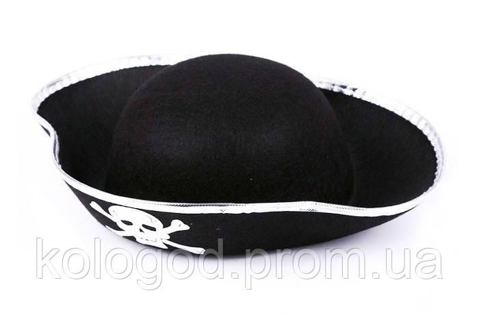 Карнавальная Шляпа Головной Убор Треуголка Пирата для Вечеринки Упаковка 10 шт.