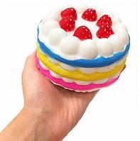 Сквиши SQUISHY Торт Сквиш Антистресс Игрушка Ароматная Большая Разноцветная, фото 1