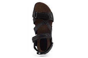 Женские сандали кожаные летние черные-коричневые StepWey 7561, фото 2