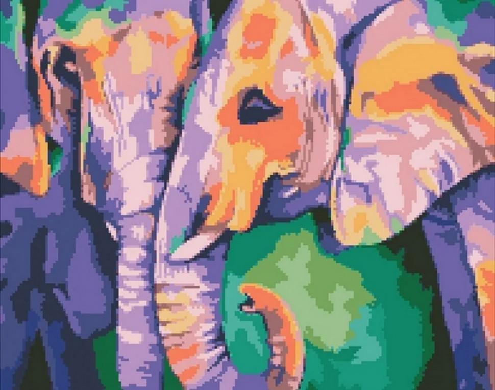 """Алмазная мозаика """"Индийские краски"""" 40*50см AM6126"""