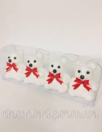 Игрушка Брелок Мишка Ко Дню Святого Валентина 6 Шт В Упаковке Размер 7 См