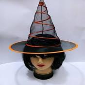 Карнавальная Шляпа Ведьмы Прозрачная на Пружине Колпак Для Вечеринки Упаковка 10 шт.
