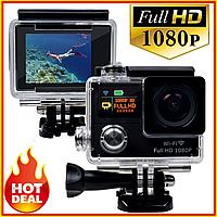 Экшн Камера А7 Спорт Action Camera Full HD 1080p АКВАБОКС Екшен Видео GoPro 900 mAh на Шлем под Водой для Вело
