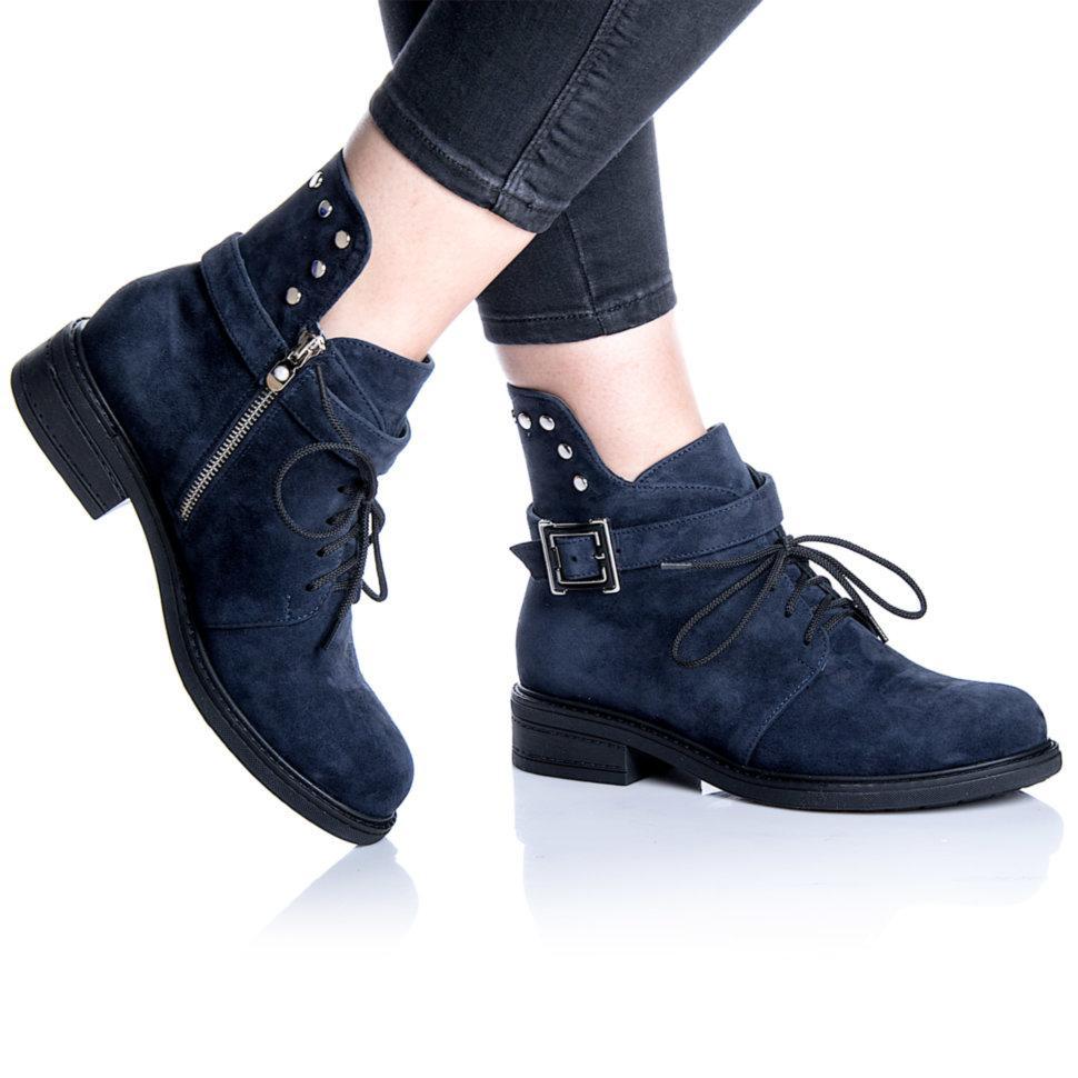 Ботинки Rivadi 2255 36(24 см) Синяя замша