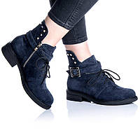Ботинки Rivadi 2255 36(24 см) Синяя замша, фото 1
