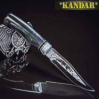 Нож Kandar - ножи для охоты и туризма Пантера с гравировкой., фото 1