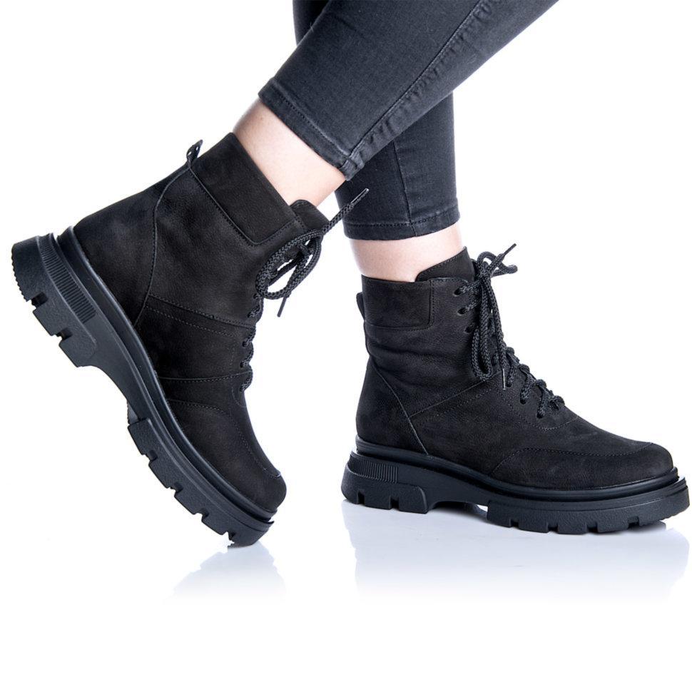 Ботинки Rivadi 2267 36(23,4см) Черный нубук