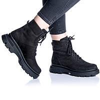 Ботинки Rivadi 2267 36(23,4см) Черный нубук, фото 1