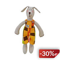 Мягкая игрушка Гранд Презент Собачка 36 см Бежевый с желтым (hub_SAlX81475)