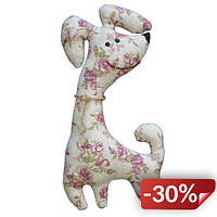 Мягкая игрушка Гранд Презент Собачка Жу-жа 17см Белый с розовым (hub_JAQs97409)