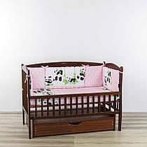 Бортики подушки панди друзі рожевого кольору