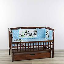 Бортики подушки панди друзі блакитного кольору