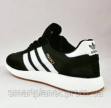 Кроссовки Мужские Adidas Iniki Runner Boost Чёрные Адидас (размеры: 46) Видео Обзор, фото 3