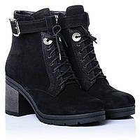 Ботинки La Rose 2274 38( 25,2 см) Черный нубук, фото 1