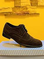 Замшевые коричневые мужские туфли