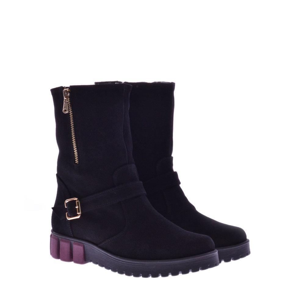 Ботинки La Rose 844 37(24,6см) Черная замша