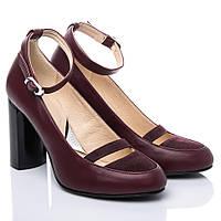 Туфли La Rose 2136 41(27,5см) Бордовая кожа, фото 1
