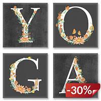 Набор для росписи по номерам Идейка YOGA Лофт 18х18 см (CH118)