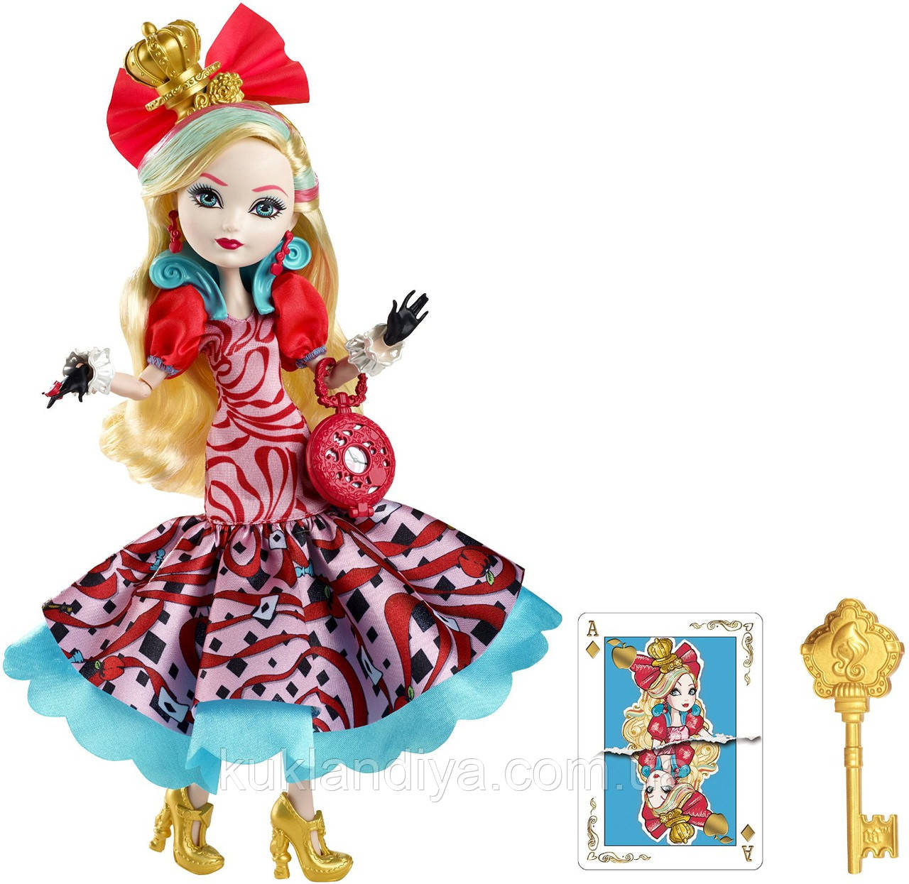 Кукла Ever After High Way Too Wonderland Apple White Эппл Вайт Mattel
