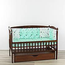 Бортики подушки великі зірочки бірюзового кольору