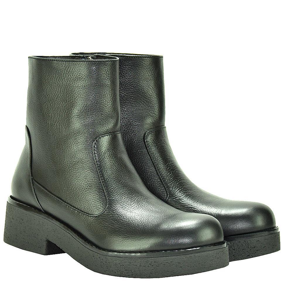 Ботинки La Rose 2037 36 (23,6см ) Черная кожа флотар