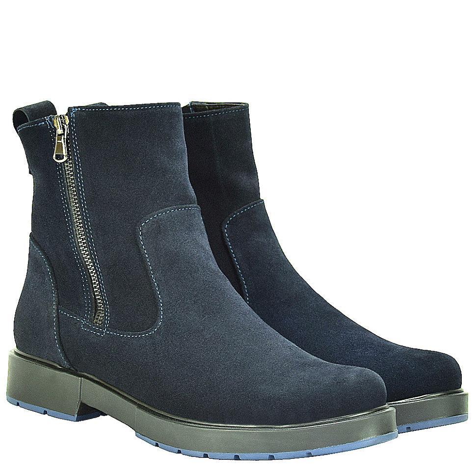 Ботинки La Rose 2038 36(23см ) Синяя замша