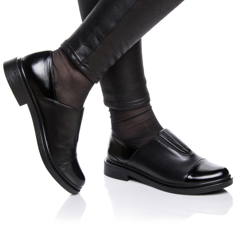 Туфли Rivadi 2121 36(24см) Черная кожа+лак