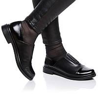 Туфли Rivadi 2121 36(24см) Черная кожа+лак, фото 1