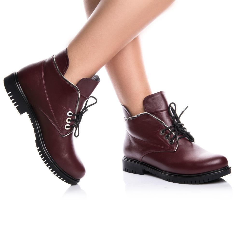 Ботинки Rivadi 2139 36(24см) Бордовая кожа
