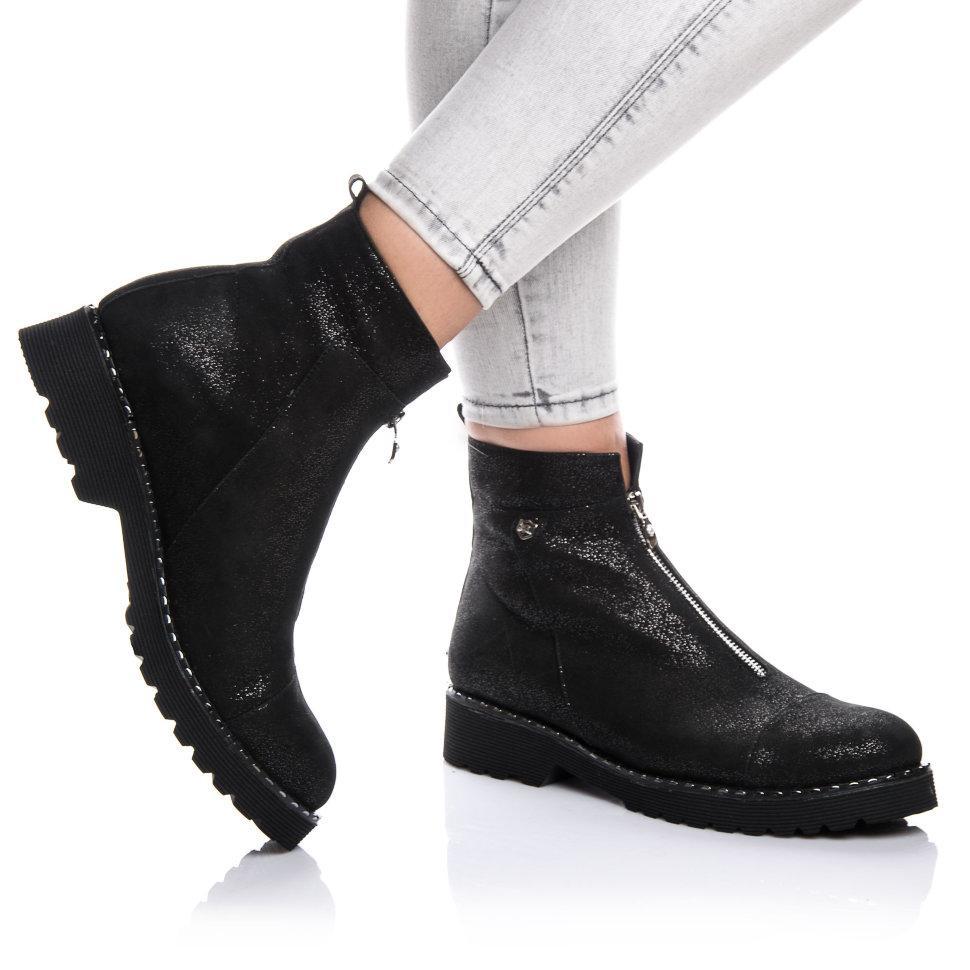 Ботинки Rivadi 2142 36(24,6см) Черная замша блеск