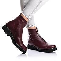 Ботинки Rivadi 2142 36(24,6см) Бордовая кожа, фото 1