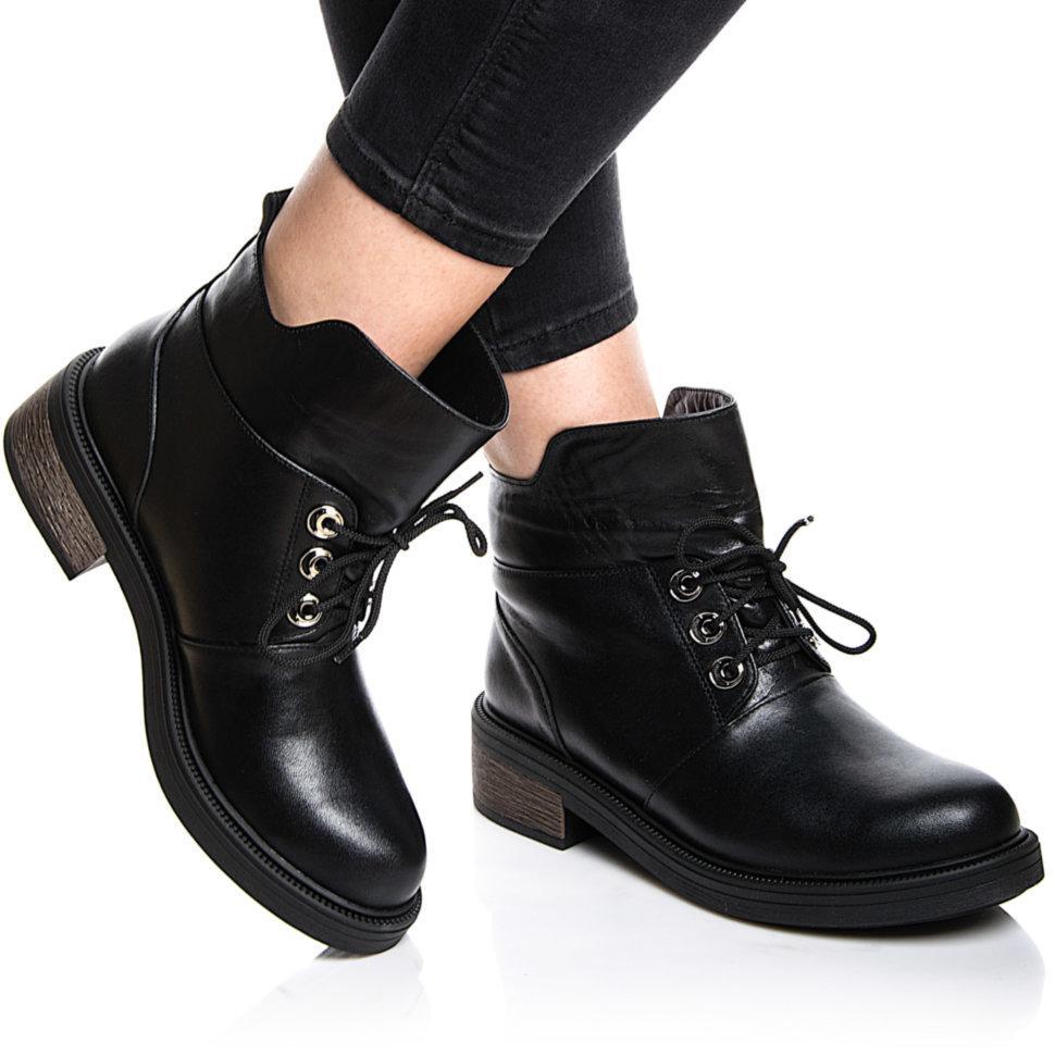 Ботинки Rivadi 2146 36(24см) Черная кожа