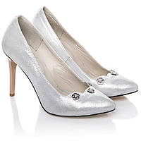 Туфли лодочки La Rose 2234 36(23,5см ) Серебро блеск