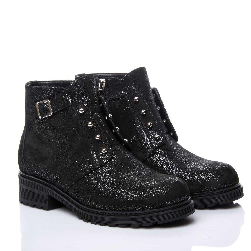 Ботинки La Rose 2152 36(24см ) Черная замша блеск