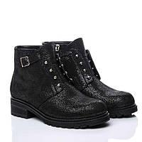 Ботинки La Rose 2152 36(24см ) Черная замша блеск, фото 1