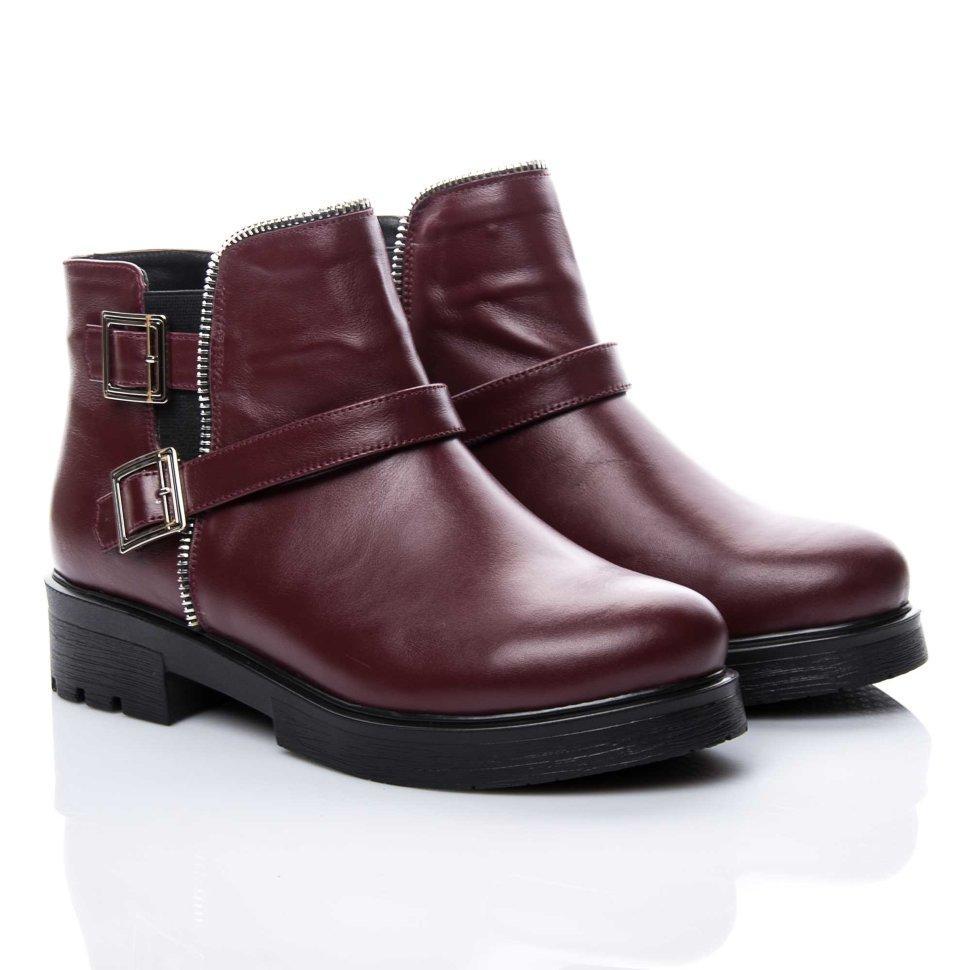 Ботинки La Rose 2153 36(24см) Бордовая кожа