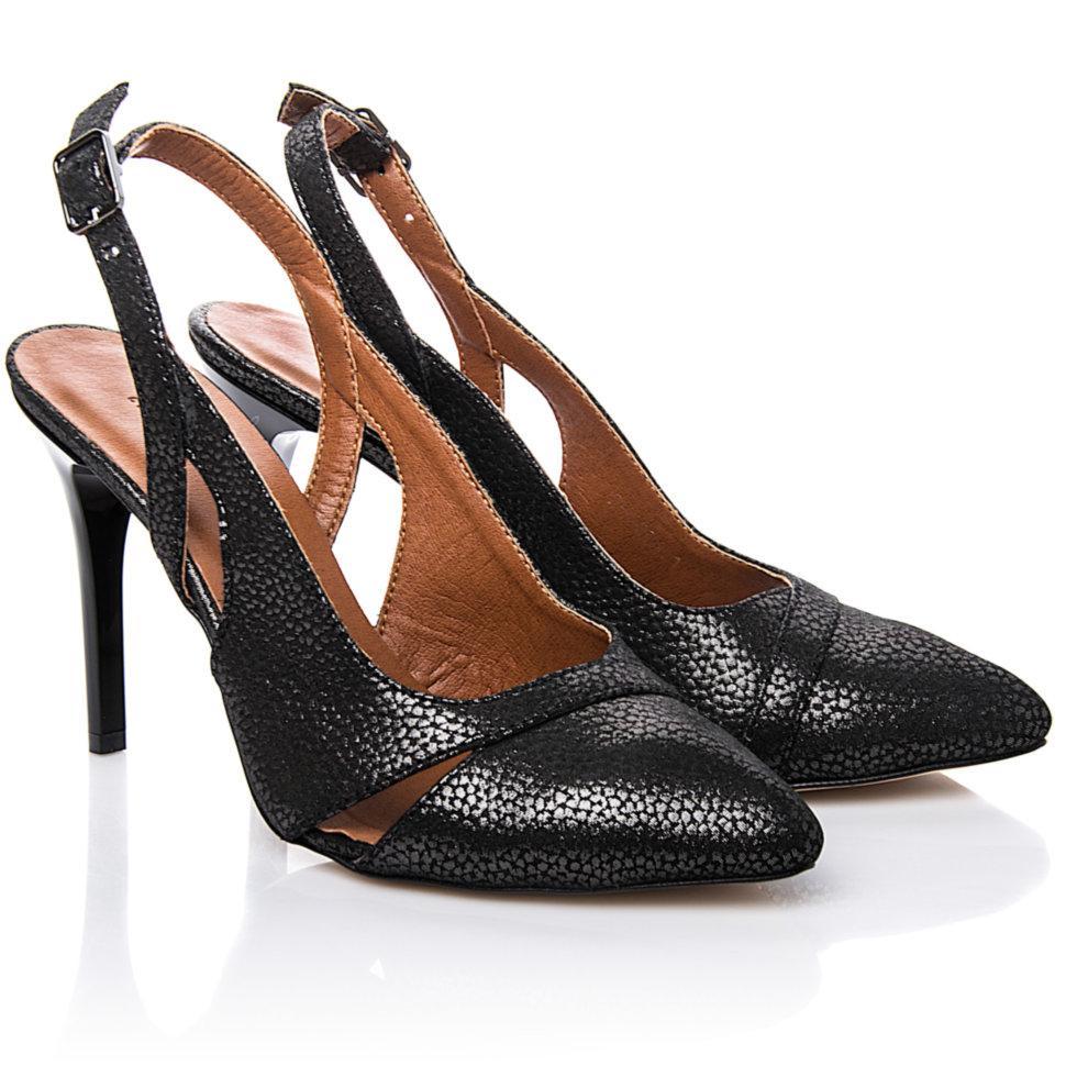 Туфли La Rose 2204 37(24см) Черная кожа блеск флотар