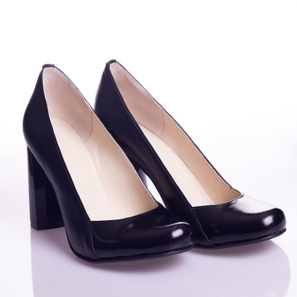 Туфли La Rose 2064 37(24,2см) Черная кожа+лак