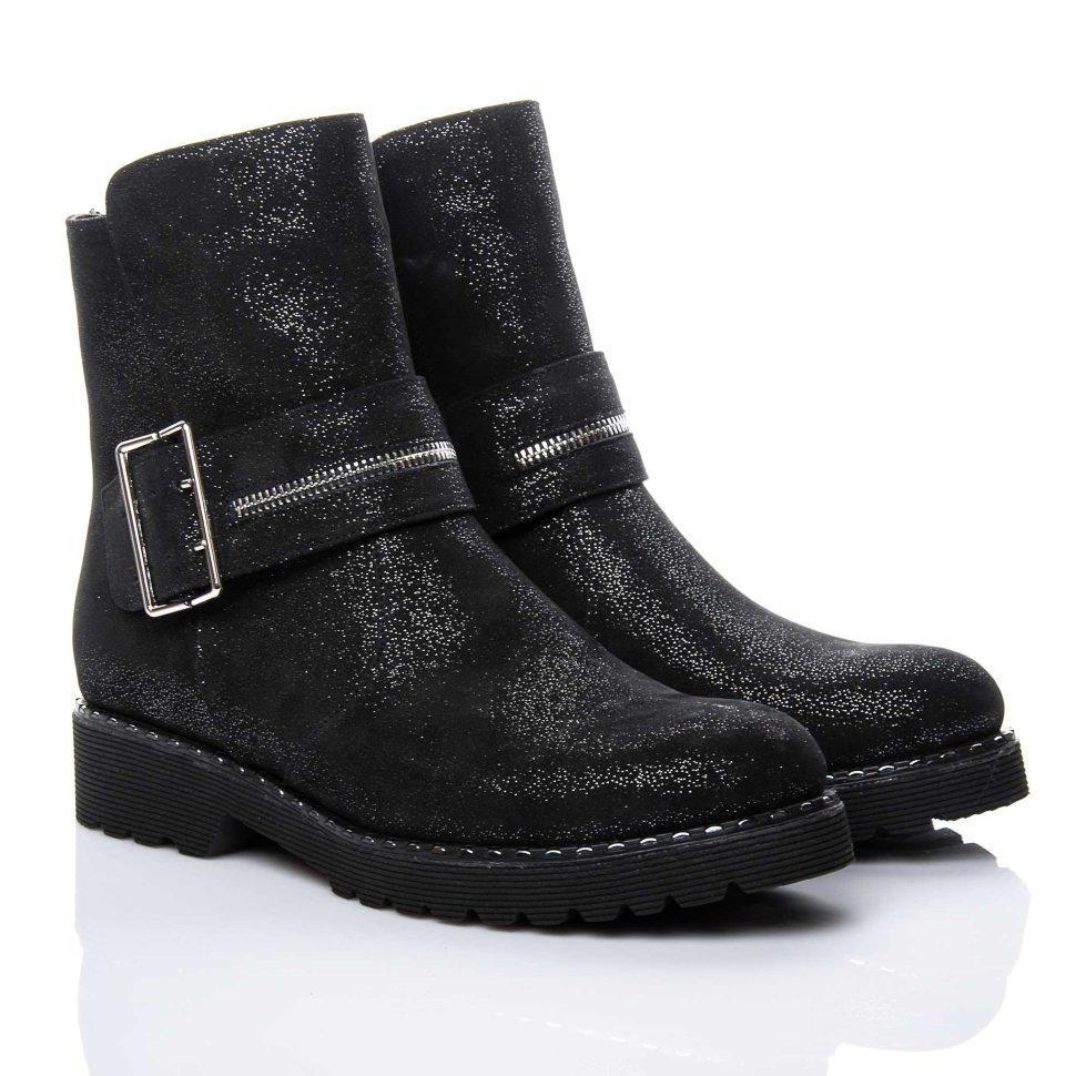 Ботинки La Rose 2160 36(24,5см) Черная замша блеск