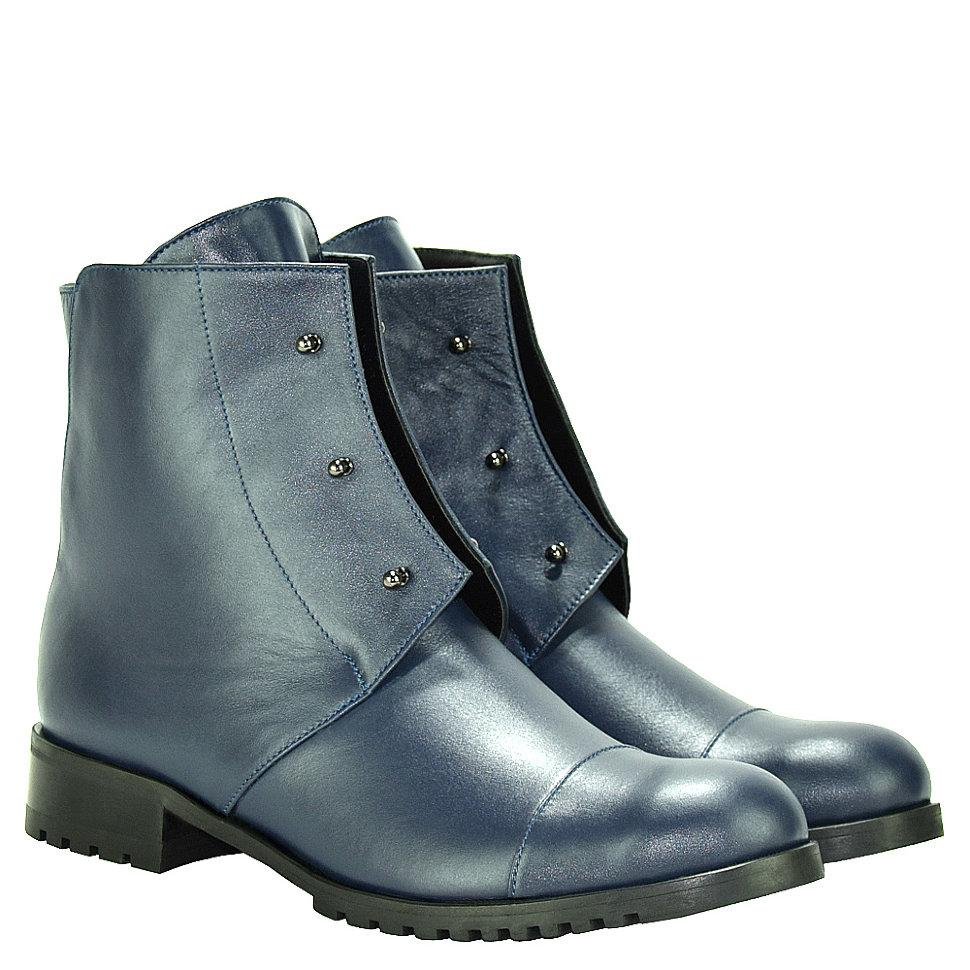 Ботинки La Rose 2036 36(24,5см) Синяя кожа