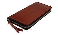 Кошелек мужской кожаный клатч большой travel SULLIVAN  kmk58-3(19.5) светло-коричневый