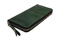 Кошелек мужской кожаный клатч большой travel SULLIVAN  kmk59-2(19.5) зеленый
