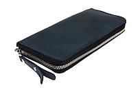 Кошелек мужской кожаный клатч большой travel SULLIVAN  kmk60-3(19.5) синий
