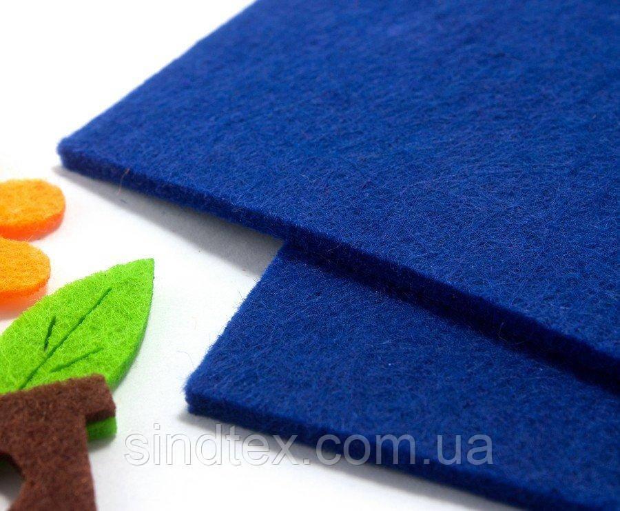 Фетр для хобби жесткий 3мм толщина, 20х30см Цвет - Синий (сп7нг-1318)