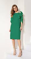 Платье LOKKA-546/5 белорусский трикотаж, зеленое яблоко, 52, фото 1