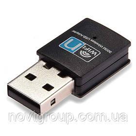 Бездротовий мережевий адаптер Wi-Fi-USB CL-UW03, RT8192cu, 802.11 bgn, 300MB, 2.4 GHz, 2000/xp/visat,Win7,Win8,Linux,Mac , Blister Q400