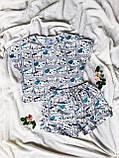 Піжама Трикотажна Футболка укороченая і шортики Кошенята М'ятний комплект, фото 2