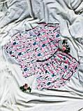 Піжама Трикотажна Футболка укороченая і шортики Кошенята М'ятний комплект, фото 3