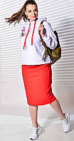 Костюм Mali-720-083 белорусский трикотаж, белый+красный, 50, фото 1